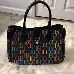 NWOT Dooney & Bourke Black Leather Signature Tote